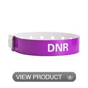Poly Narrow Dnr Wristbands